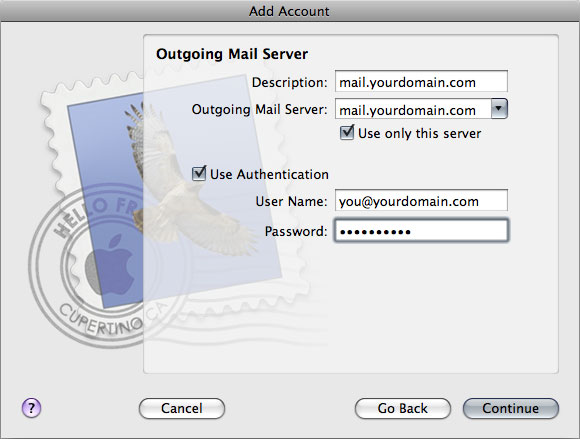 Setting up mac mail