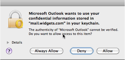 Setting up Outlook 2011 on OSX